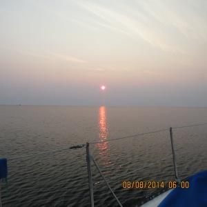 Sunrise at Presque Isle, MI