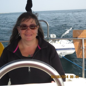 Tammy at the helm