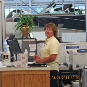 Wendy was fantastic.  The advertisement in the Cruising Guide said they had a hot dog stand.  This year they didn't and we gave them a bad time telling them one of the reasons we came to Smith Boy's was because of the hot dog stand.  Wendy offered to drive us to another hot dog stand in town.