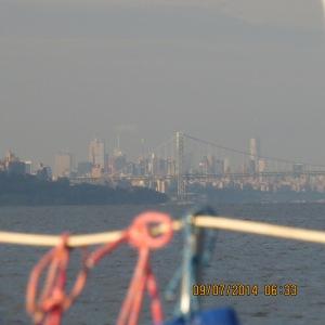 New York City on the horizon