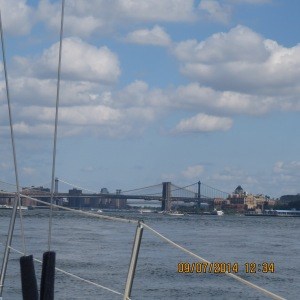 The Battery of Bridges starting with the Brooklyn Bridge