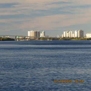 View of Daytona beach from Adventure